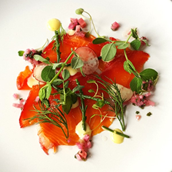 Bridge of Orchy Restaurant Locally sourced smoked salmon starter