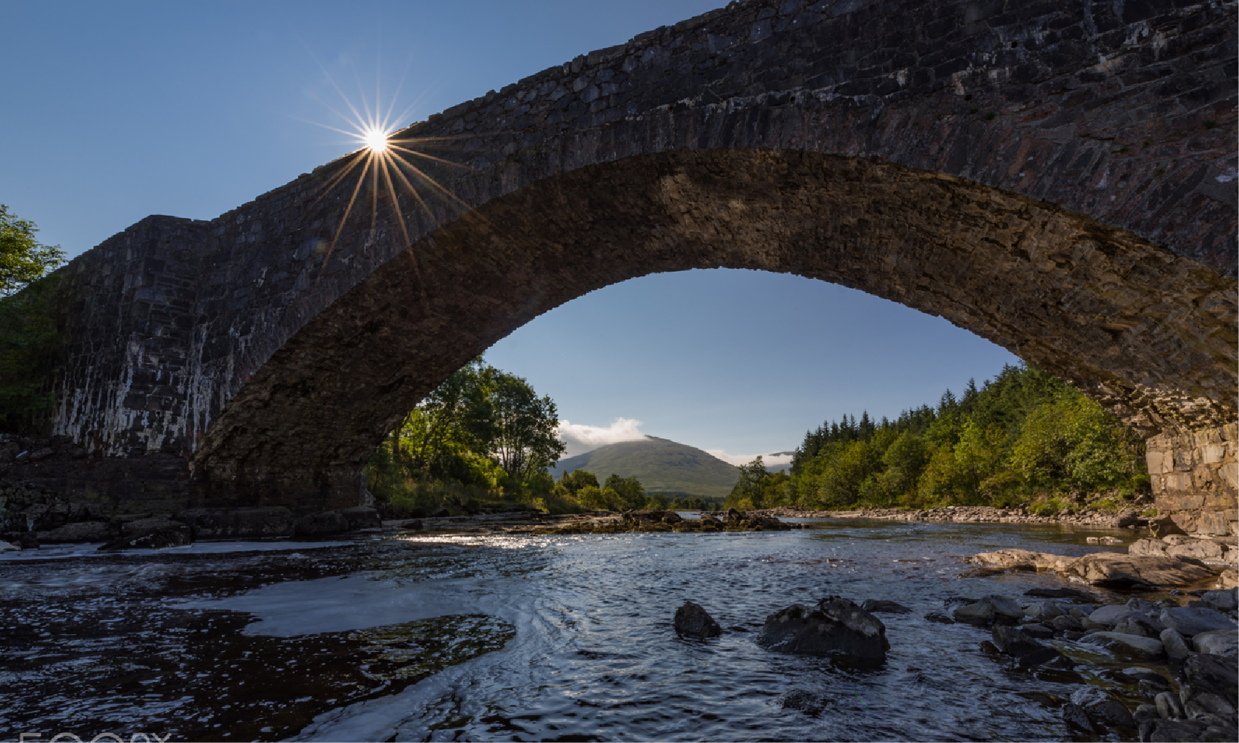 The Bridge of Orchy from Below